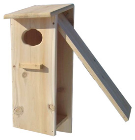 full door wood duck house